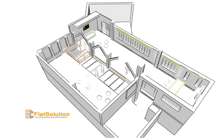 Espace de réception : Croquis et Modélisation