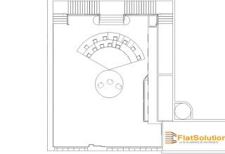 2 - Espace de réception - Vue de dessus simple