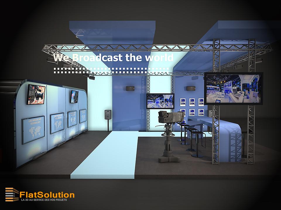 Conception de stand 3d pour un salon 3 me partie for Creation de stand pour salon
