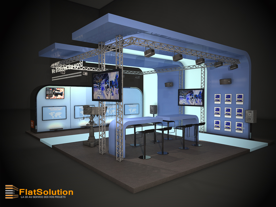 Conception de stand 3d pour un salon 3 me partie for Conception salon 3d