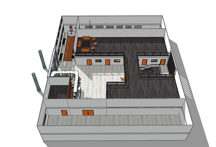 Office - niveau 1 +2 meublé