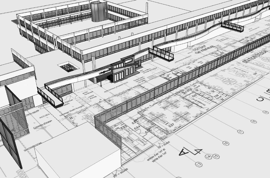 Modélisation du hall industriel