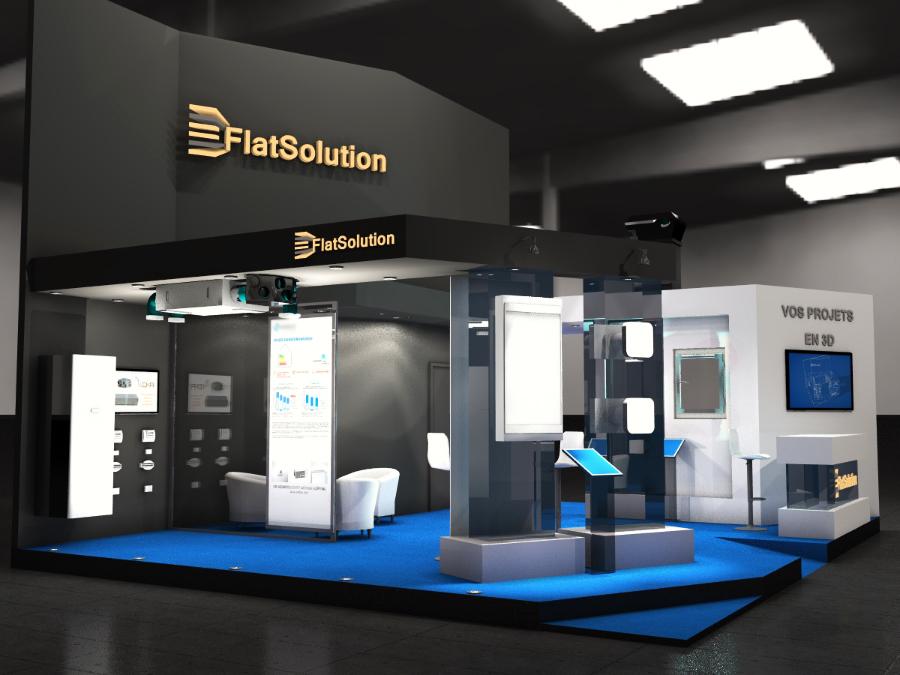 Conception 3d de stand flatsolution for Conception 3d