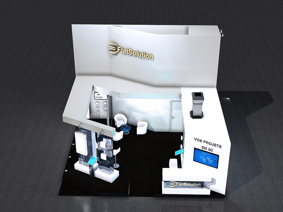 Stand 3D - design blanc