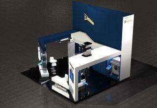 stand-design-bleu-rendu-cote